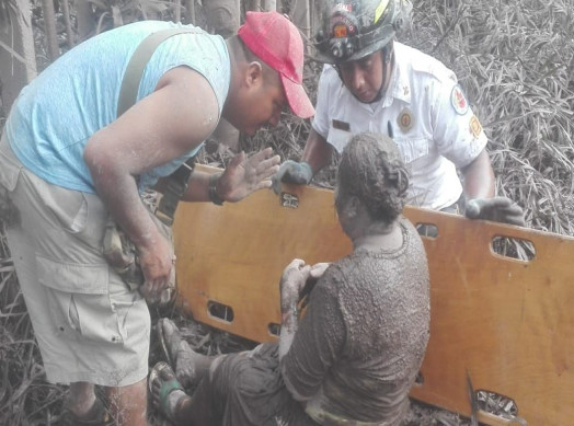Help for victims of the eruption of Volcán de Fuego